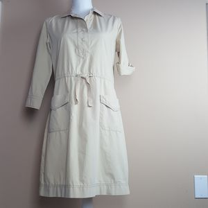 J.crew Size XS cotton safari Tan dress